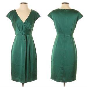 Jade Green J. Crew Alexa Silk Taffeta Dress